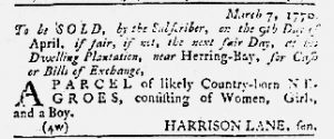 Mar 29 1770 - Maryland Gazette Slavery 2