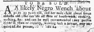 Mar 29 1770 - New-York Journal Slavery 1