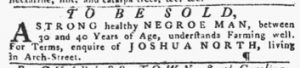 Mar 29 1770 - Pennsylvania Gazette Slavery 1