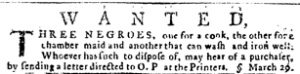 Mar 29 1770 - Pennsylvania Journal Slavery 1
