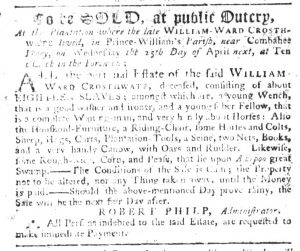 Mar 29 1770 - South-Carolina Gazette Slavery 1