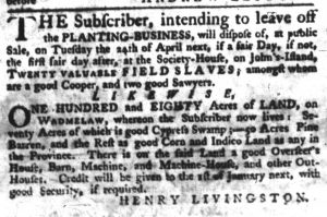 Mar 29 1770 - South-Carolina Gazette Slavery 6