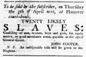 Mar 29 1770 - Virginia Gazette Rind Slavery 2