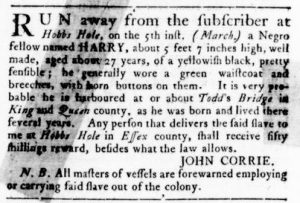 Mar 29 1770 - Virginia Gazette Rind Slavery 3
