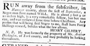 Mar 29 1770 - Virginia Gazette Supplement Rind Slavery 2