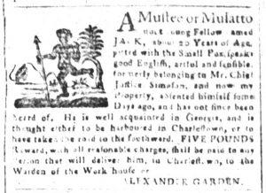 Mar 30 1770 - South-Carolina and American General Gazette Slavery 1