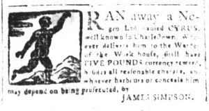 Mar 30 1770 - South-Carolina and American General Gazette Slavery 10