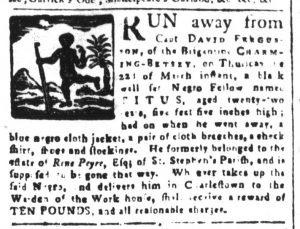 Mar 30 1770 - South-Carolina and American General Gazette Slavery 3