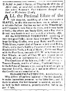Mar 30 1770 - South-Carolina and American General Gazette Slavery 4