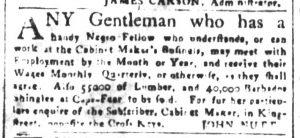 Mar 30 1770 - South-Carolina and American General Gazette Slavery 6