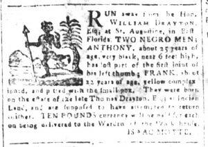 Mar 30 1770 - South-Carolina and American General Gazette Slavery 9