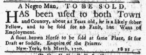 Mar 8 1770 - New-York Journal Slavery 1
