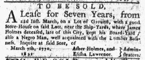 Mar 8 1770 - New-York Journal Slavery 2