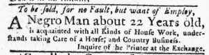 Mar 8 1770 - New-York Journal Supplement Slavery 1