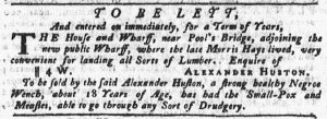 Mar 8 1770 - Pennsylvania Gazette Slavery 1