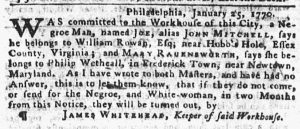 Mar 8 1770 - Pennsylvania Gazette Slavery 2