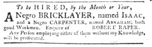 Mar 8 1770 - South-Carolina Gazette Slavery 11
