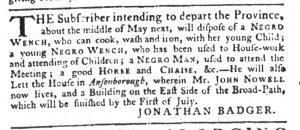 Mar 8 1770 - South-Carolina Gazette Slavery 2