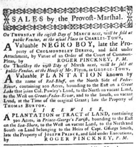 Mar 8 1770 - South-Carolina Gazette Slavery 6
