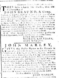 Mar 8 1770 - South-Carolina Gazette Supplement Slavery 3