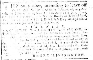 Mar 8 1770 - South-Carolina Gazette Supplement Slavery 4