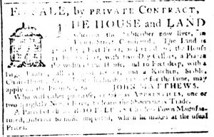 Mar 8 1770 - South-Carolina Gazette Supplement Slavery 5