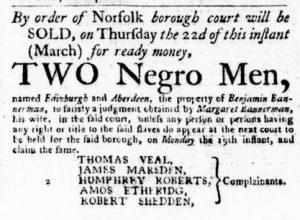 Mar 8 1770 - Virginia Gazette Purdie & Dixon Slavery 1