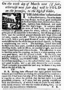 Mar 8 1770 - Virginia Gazette Purdie & Dixon Slavery 10