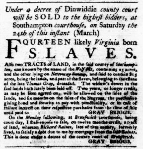 Mar 8 1770 - Virginia Gazette Purdie & Dixon Slavery 3