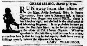 Mar 8 1770 - Virginia Gazette Purdie & Dixon Slavery 4