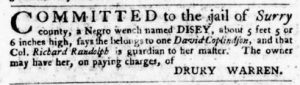 Mar 8 1770 - Virginia Gazette Purdie & Dixon Slavery 8