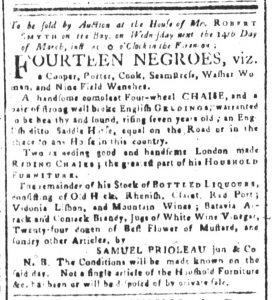 Mar 9 1770 - South-Carolina and American General Gazette Slavery 3