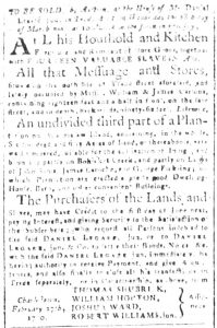 Mar 9 1770 - South-Carolina and American General Gazette Slavery 5