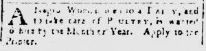 Mar 9 1770 - South-Carolina and American General Gazette Slavery 6