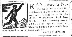 Mar 9 1770 - South-Carolina and American General Gazette Slavery 8