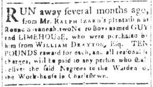 Mar 9 1770 - South-Carolina and American General Gazette Slavery 9