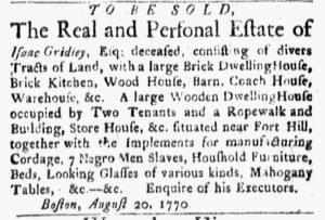 Oct 1 1770 - Boston Evening-Post Slavery 2