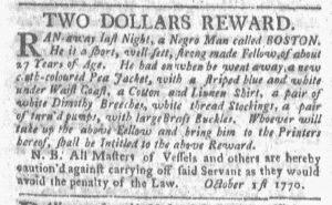 Oct 1 1770 - Boston-Gazette Slavery 1