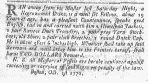 Oct 1 1770 - Boston-Gazette Slavery 2