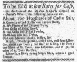 Oct 1 1770 - Boston-Gazette Slavery 3