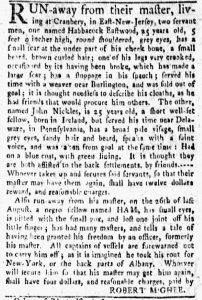 Oct 1 1770 - New-York Gazette and Weekly Mercury Slavery 3