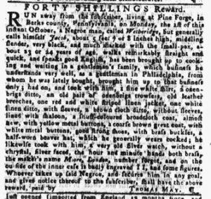Oct 11 1770 - Pennsylvania Gazette Slavery 2