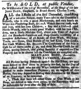 Oct 11 1770 - South-Carolina Gazette Slavery 2
