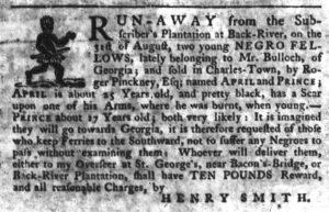 Oct 11 1770 - South-Carolina Gazette Slavery 4