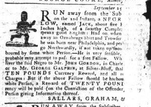 Oct 11 1770 - South-Carolina Gazette Slavery 6