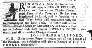 Oct 11 1770 - South-Carolina Gazette Slavery 7