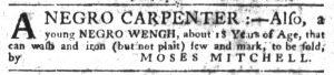 Oct 11 1770 - South-Carolina Gazette Slavery 8