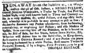 Oct 11 1770 - South-Carolina Gazette Supplement Extraordinary Slavery 1