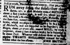 Oct 11 1770 - Virginia Gazette Rind Slavery 2