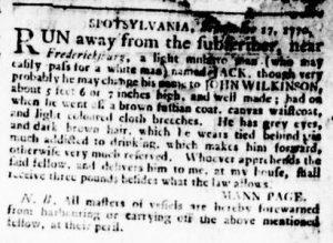Oct 11 1770 - Virginia Gazette Rind Slavery 3